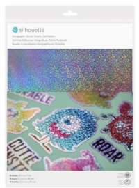 Printbaar stickerpapier - Holographic Dots