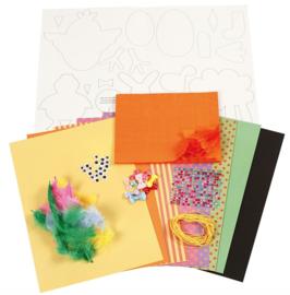 DIY knippakket Pasen (sterke kleuren)