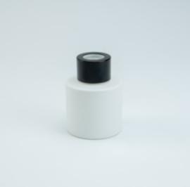 Parfumflesje Cylinder White met zwarte schroefdop - 50ml