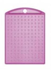 Medaillon pixelhobby transparant roze + kettinkje