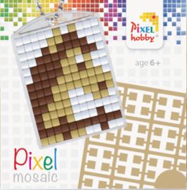 Pixel sleutelhanger - Paard