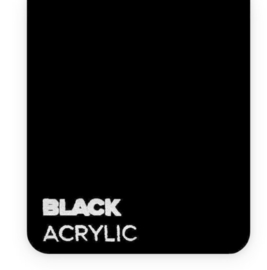 Acrylic Black 3mm (21x30cm)