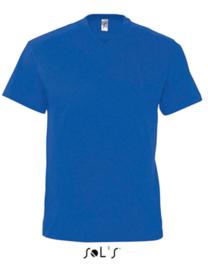 Men T-shirt V-hals - Royal Blue