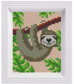 Pixel geschenkverpakking - Jungle luiaard