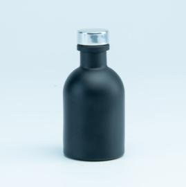 Luxe flesje Zwart - Zilveren Dop 50ml