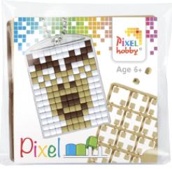Pixel sleutelhanger - Lachend Rendier