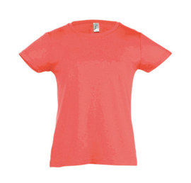 Girls T-shirt - Coral
