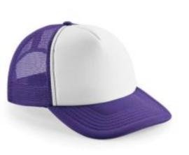 Vintage Trucker Cap - Purple & White
