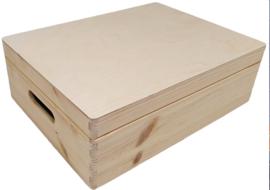 Opbergkist rechthoek klepdeksel (LAAG/40cm)
