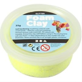FOAM CLAY - Glitter Yellow  (35 GR)