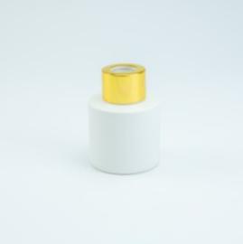Parfumflesje Cylinder White met gouden schroefdop - 50ml