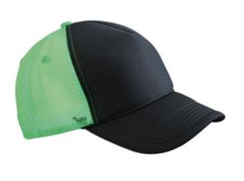 Retro Mesh Cap - Black / Neon Green