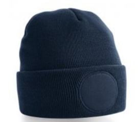 Circular Patch Beanie - FRENCH NAVY