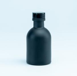 Luxe flesje Zwart - Zwarte Dop 50ml