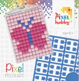 Pixel sleutelhanger - Vlinder