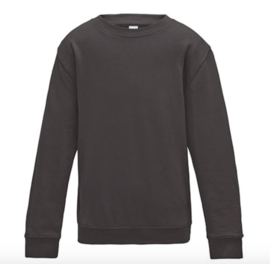 Kids AWDis Sweater - Charcoal (heather)