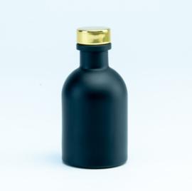 Luxe flesje Zwart - Gouden Dop 50ml