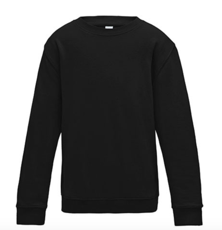 Kids AWDis Sweater - Jet Black