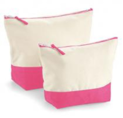 Dipped Accessory Bag - Natural/Pink - L