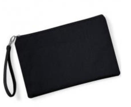 Canvas Wristlet -  Black/Black