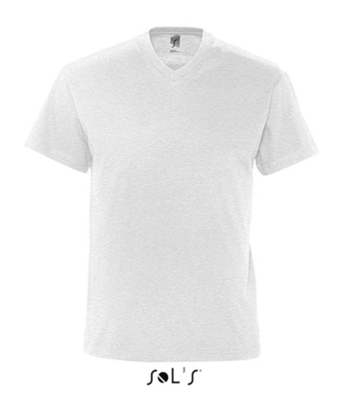 Men T-shirt V-hals - Ash (Heather)