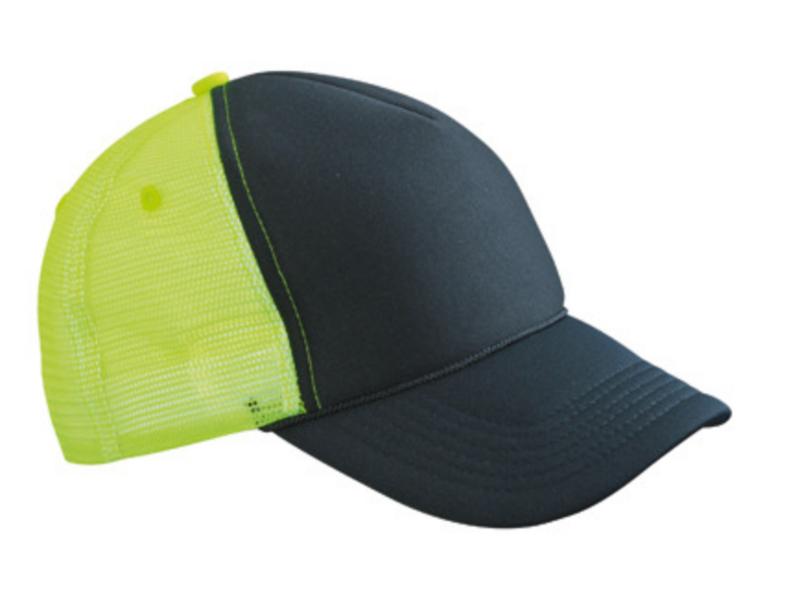 Retro Mesh Cap - Black / Neon Yellow