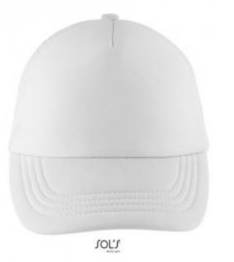 Bubble Kids Cap - White