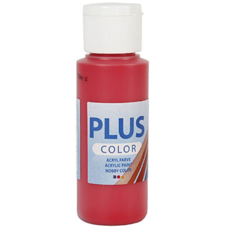 Plus Color acrylverf - Berry Red / 60 ml