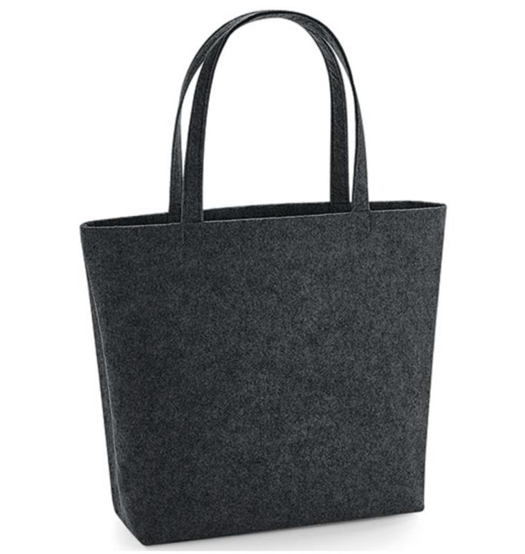Felt Shopper - Charcoal Melange