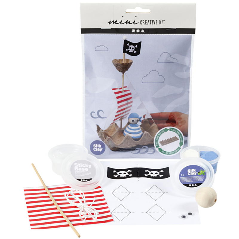 Mini Creative Kit - Eierdoos Piratenschip
