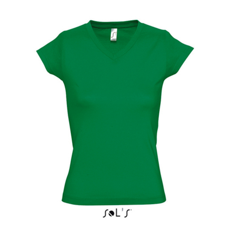 Women T-shirt V-hals - Kelly Green