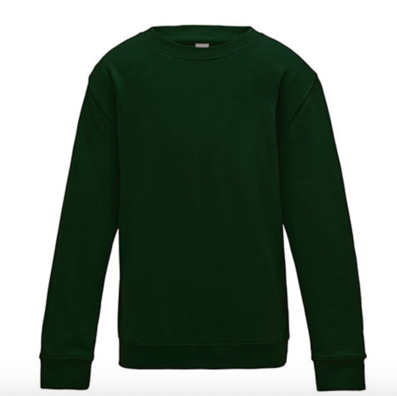 Kids AWDis Sweater - Forest Green