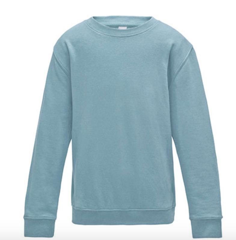 Kids AWDis Sweater - Sky Blue