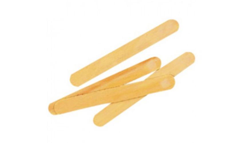 Houten spatel voor etspasta / ijsstokje (1 stuk)