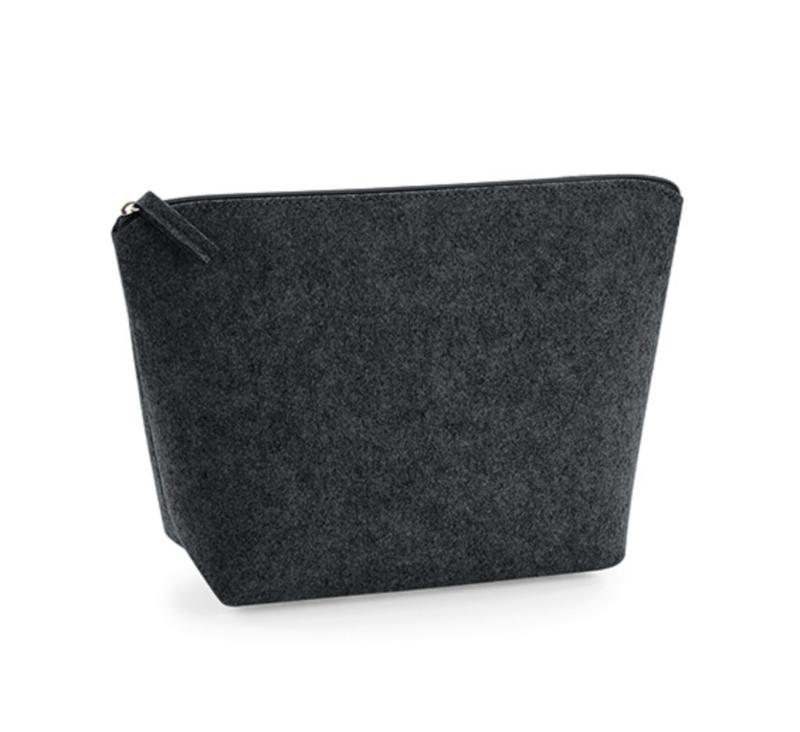 Felt Accessory Bag  - Charcoal - Medium