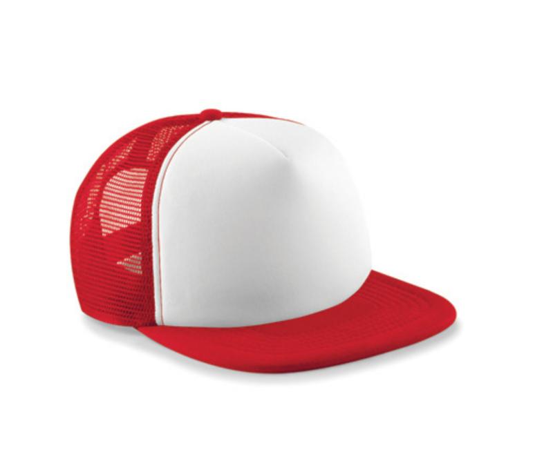 Vintage Trucker Cap - Red & White