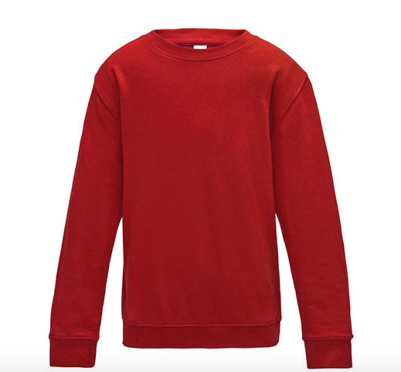 Kids AWDis Sweater - Fire Red
