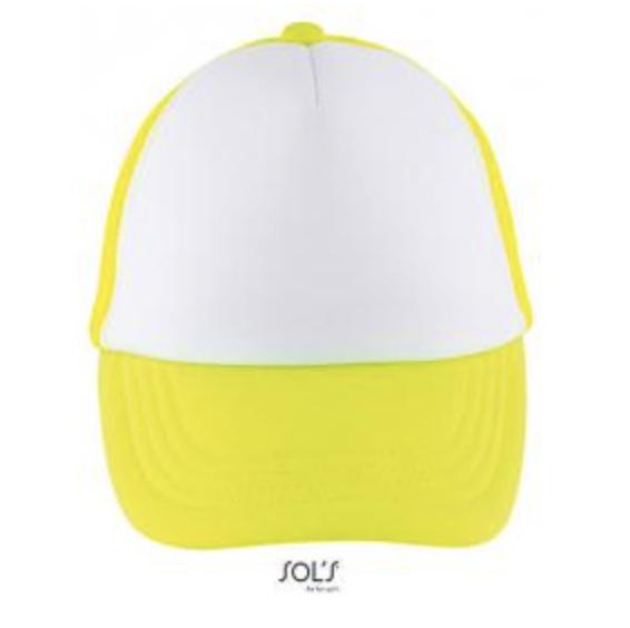 Bubble Kids Cap - White/Neon Yellow