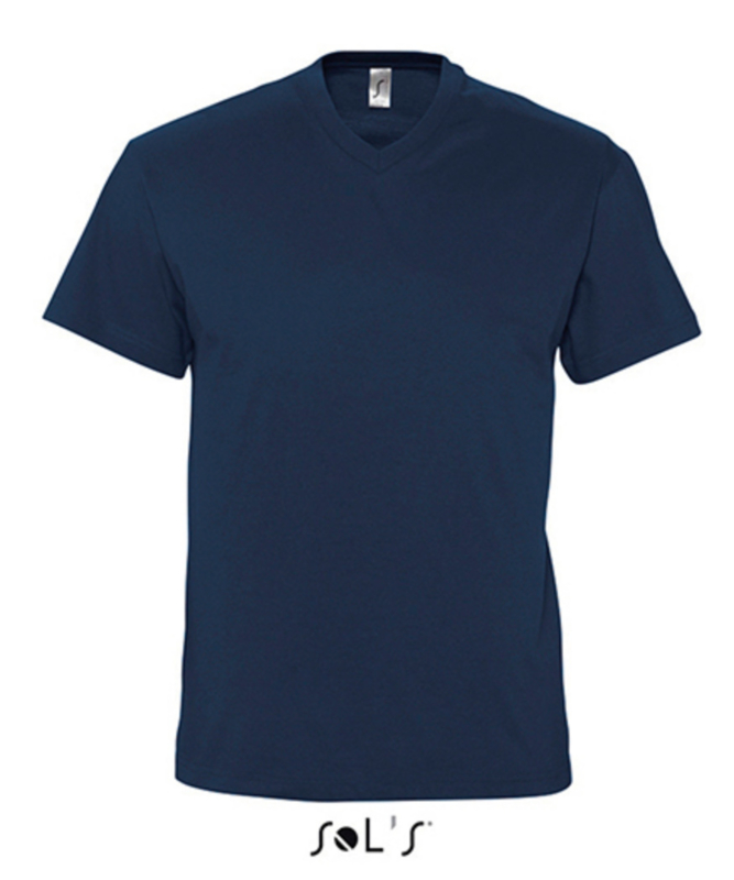 Men T-shirt V-hals - Navy