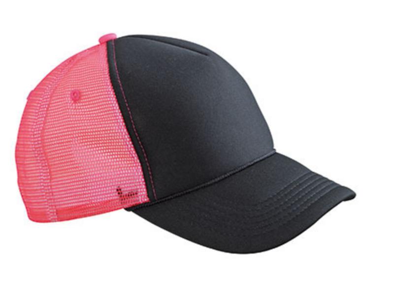 Retro Mesh Cap - Black / Neon Pink