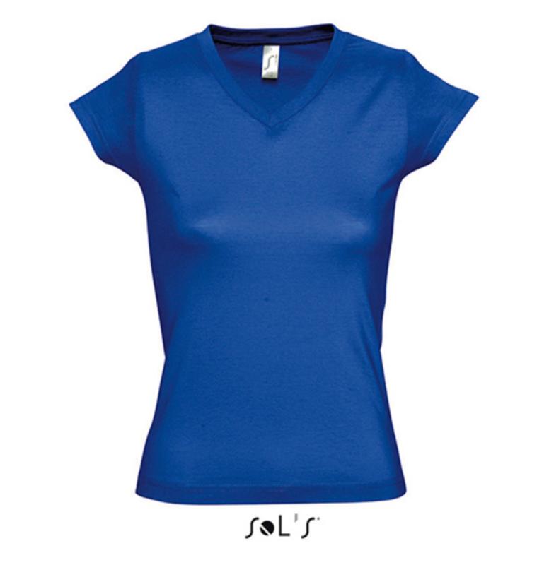 Women T-shirt V-hals - Royal Blue
