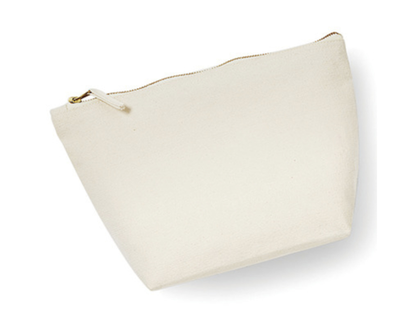 Canvas Accessory Bag - Natural - L