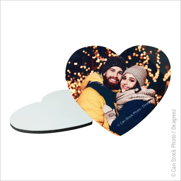 MDF Photo Panel Heart