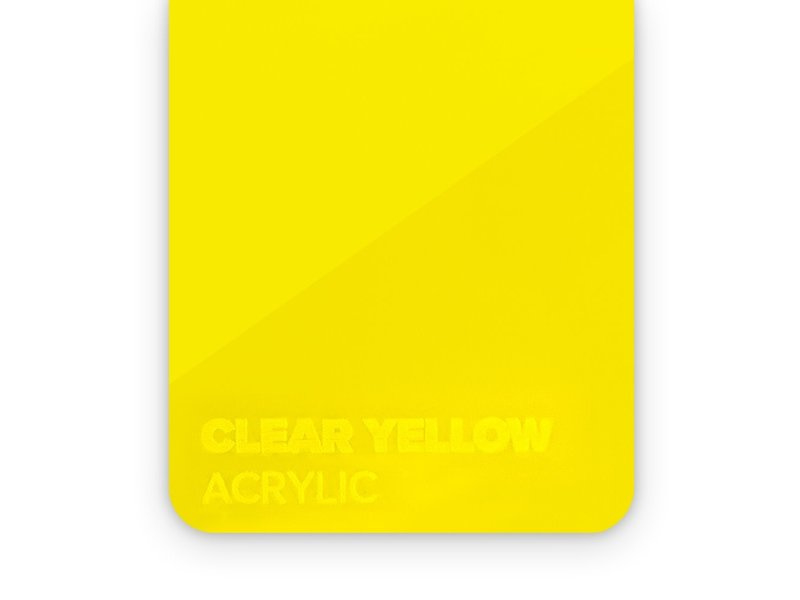 Acrylic Clear Yellow 3mm
