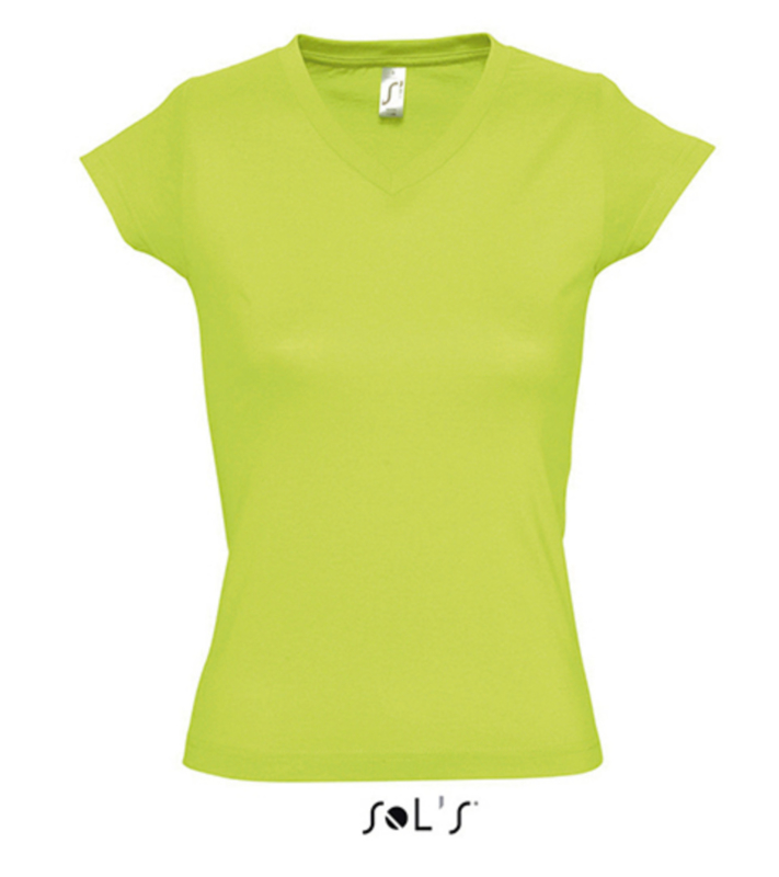 Women T-shirt V-hals - Apple Green