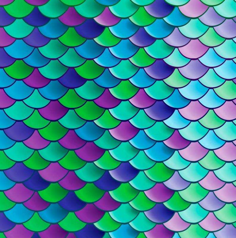 Siser Easy Pattern - Mermaid Scales (30cmx50cm) + TTD