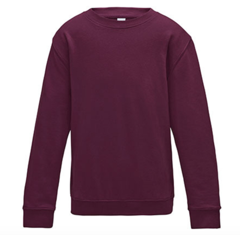 Kids AWDis Sweater - Burgundy