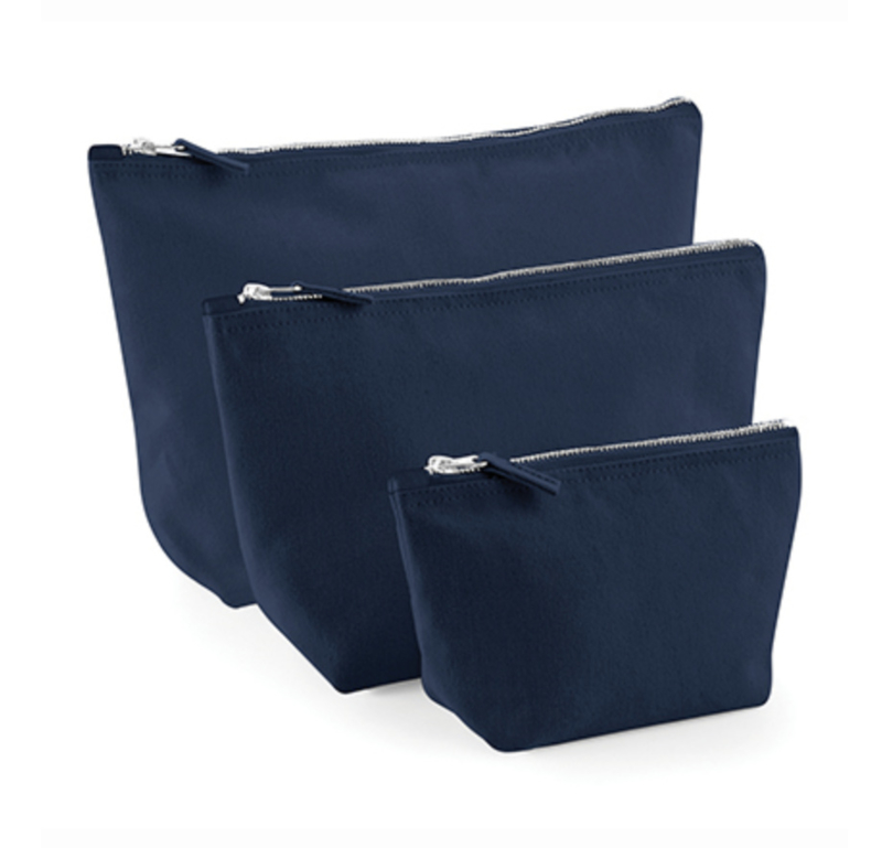 Canvas Accessory Bag - Navy - L