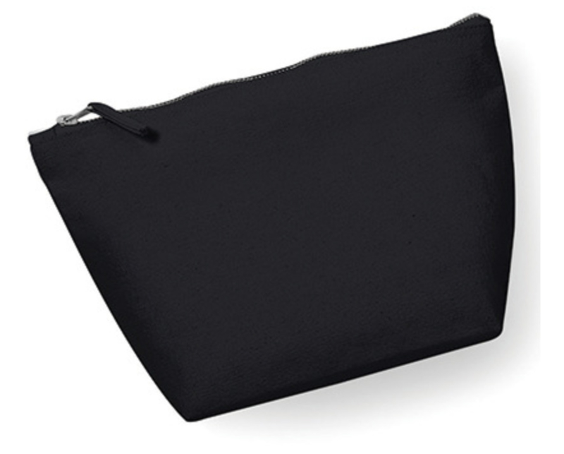 Canvas Accessory Bag - Black - M