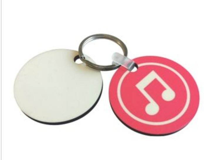 Sublimatie - MDF Key Ring Round (5stuks)